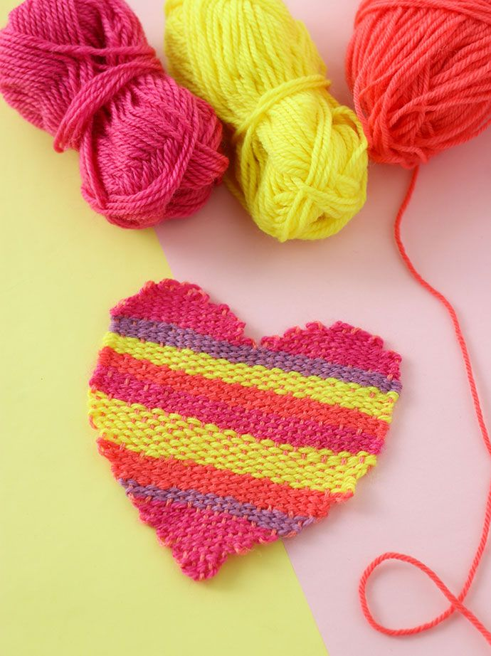 How to weave a heart shape with a DIY loom - mypoppet.com.au