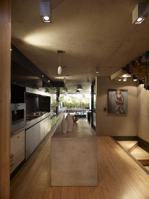 Love the material they used for the kitchen island. #kitchen #house #interior