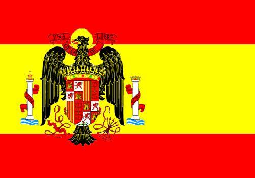 De 1945 a 1977: Bandera de España.