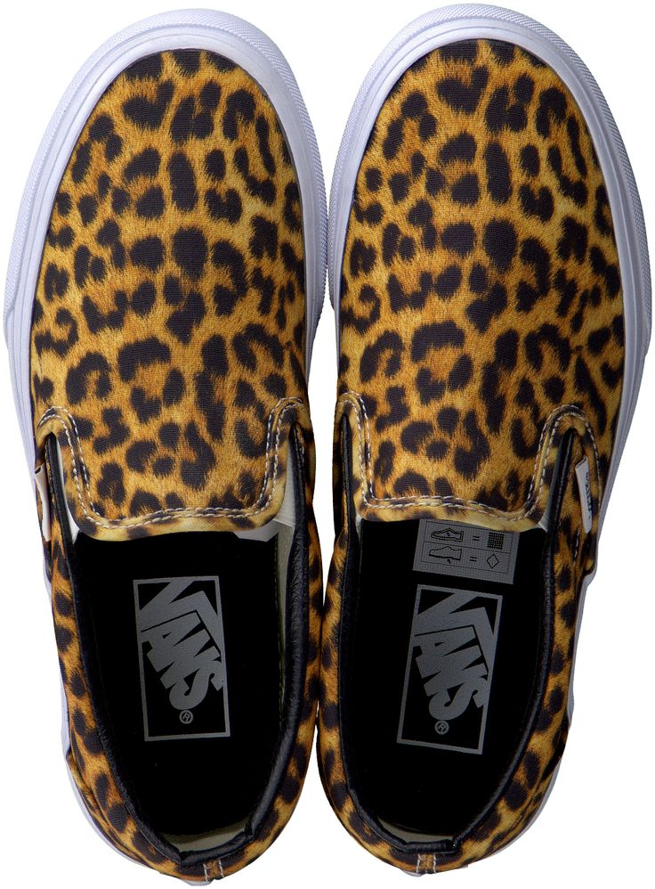 Vans with leopard print --> http://www.omoda.nl/dames/sneakers/slip-on-sneakers/vans/gele-vans-slip-on-sneaker-classic-slip-on-dames-57771.html/?utm_source=Pinterest&utm_medium=referral&utm_campaign=VansSlipons23-03-15&s2m_channel=903