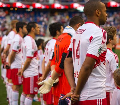 New York Red Bulls Line Up.