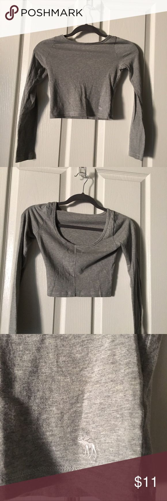 NWOT Girls Long Sleeve Crop Top Back side is scooped lower than front side, very light comfortable material. abercrombie kids Shirts & Tops