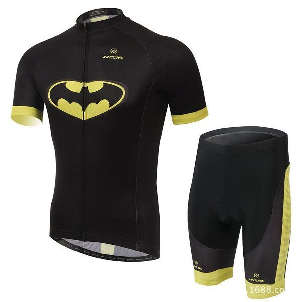 Batman Superhero Shirt & Short Cycling Jersey