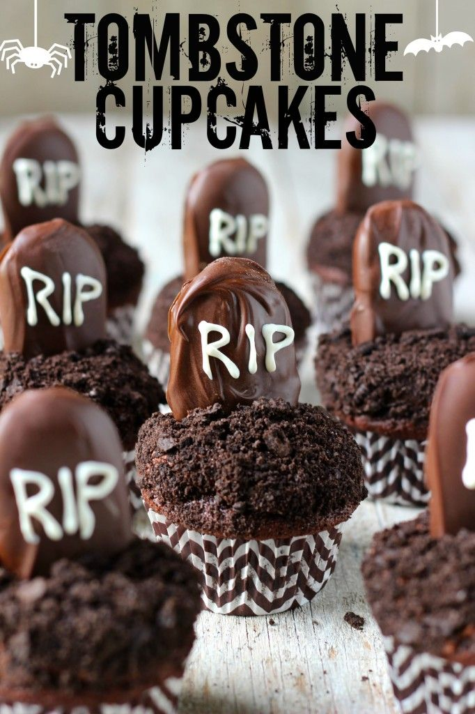 Tombstone Cupcakes...using Milano cookies!
