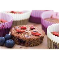 Muffins de Aveia, Mirtilo e Goji - Celeiro