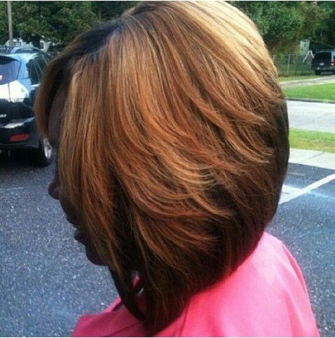Bob cut, love the color