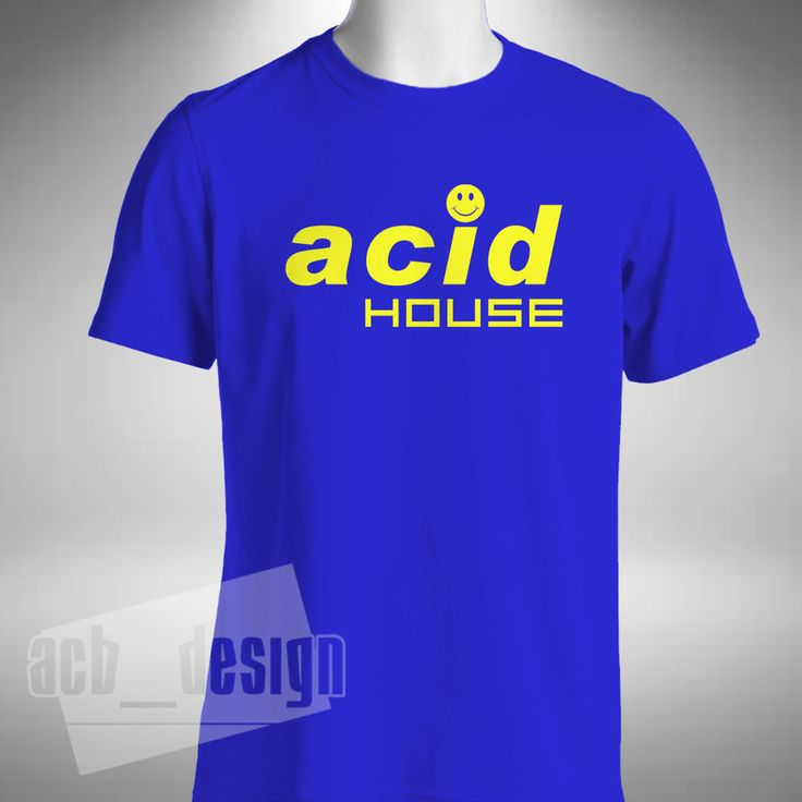 Details about acid house mens t shirt smiley face old for Old skool acid house