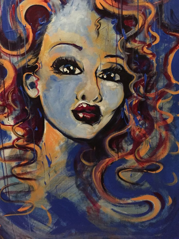 Raw Looks series: abstract woman's face, red lips, 90cm x 120cm, acrylic on canvas. #rawlooks #rubylips #lipsart