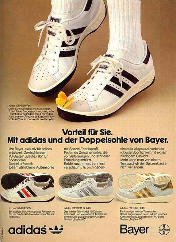 adidas tennis shoes from the 80s