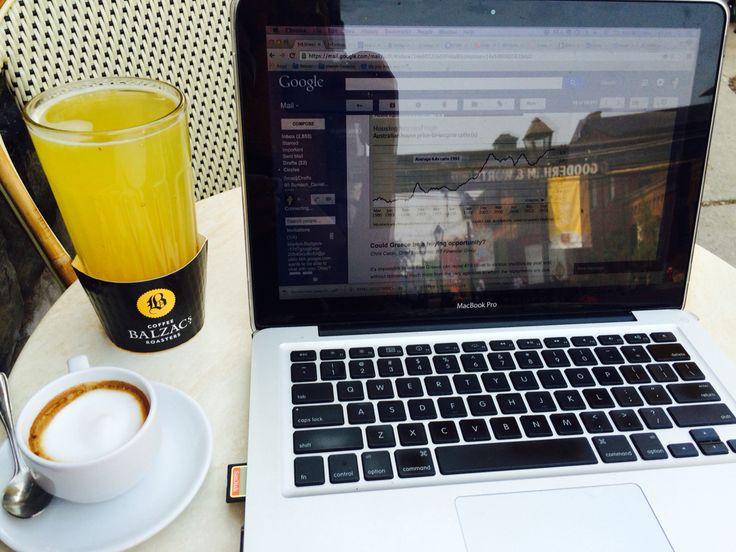 Working site. #balzacs #trinitysquare #livingatthedistillery #coffee
