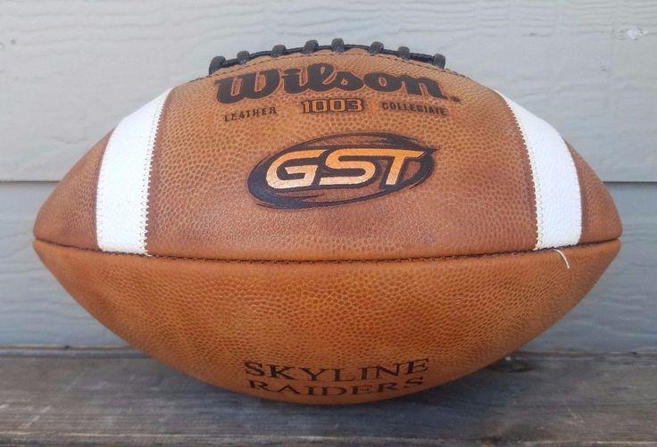 NEW Wilson F1003 GST LEATHER Football NFHS High School NCAA SKYLINE RAIDERS
