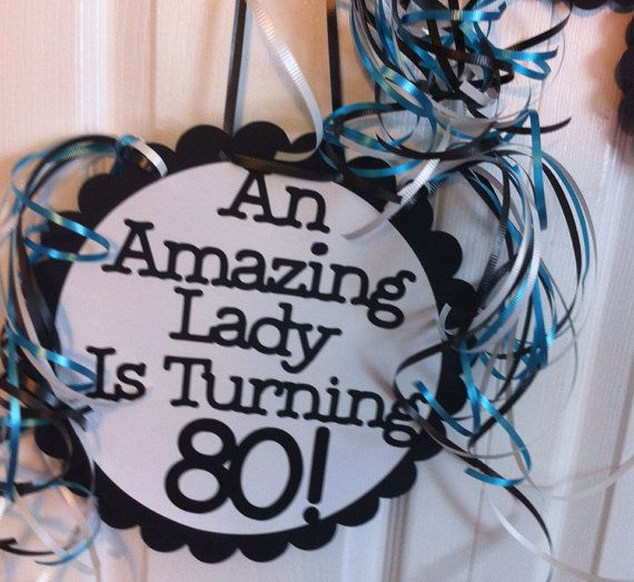 80th Birthday Party Decorations Giant Personalized by FromBeths