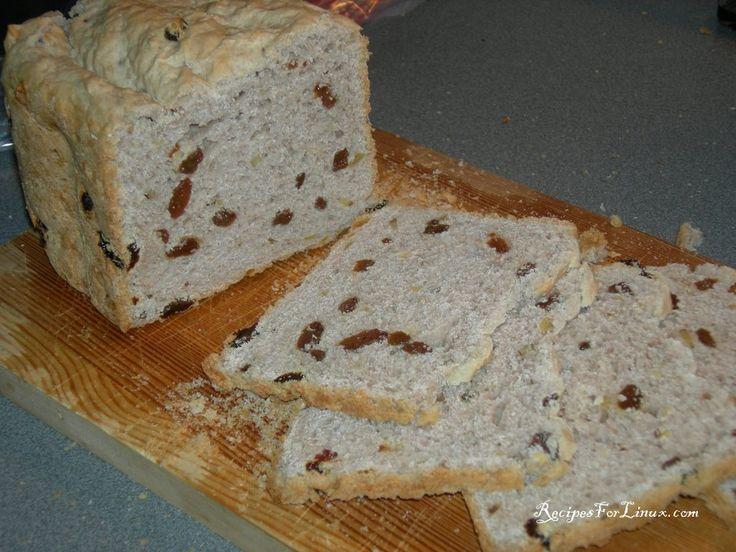 Hoy nos hemos decidido a hacer un pan de nueces y pasas en nuestrapanificadora silvercrest que compramos en el Lidl. Hemos seguido la receta que viene en el libro de recetas de la panificadora para un pan dulce de 1…