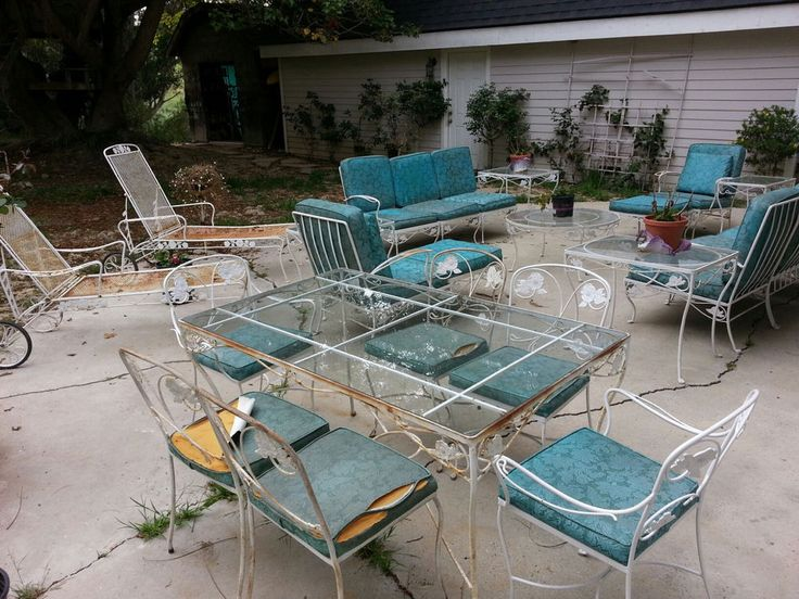 Vintage Iron Patio Furniture SET - 1326 Best Vintage Wrought Iron Patio Furniture Images On Pinterest