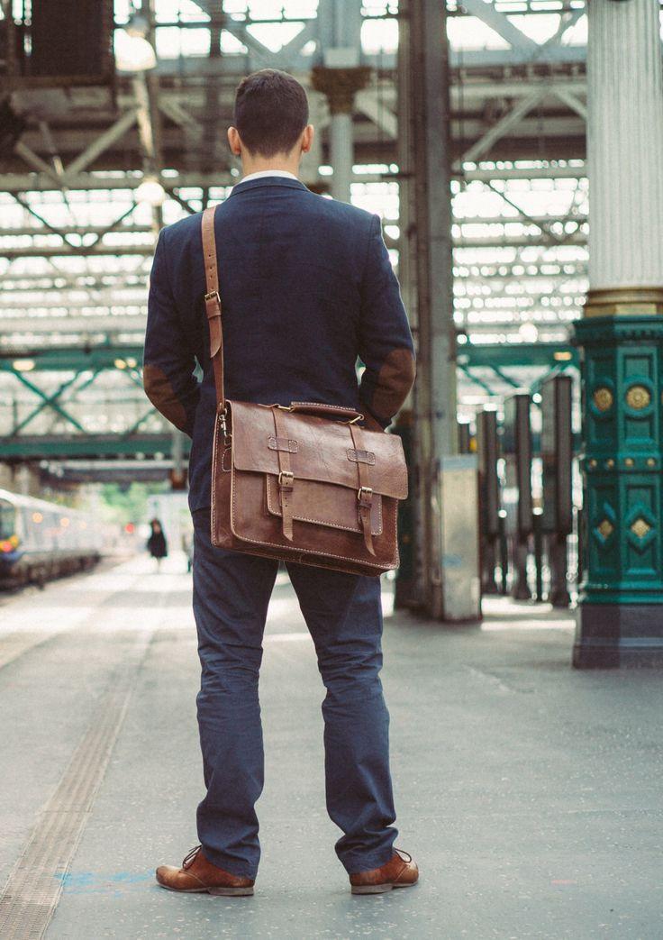 "Men's Messenger Bag, 15"" Leather Briefcase, Benny Bee, Cosmopolitan Fashion, Handmade Cross-body Bag, Leather Shoulder Bag, Large Satchel by BennyBeeLeather on Etsy https://www.etsy.com/listing/241826936/mens-messenger-bag-15-leather-briefcase"