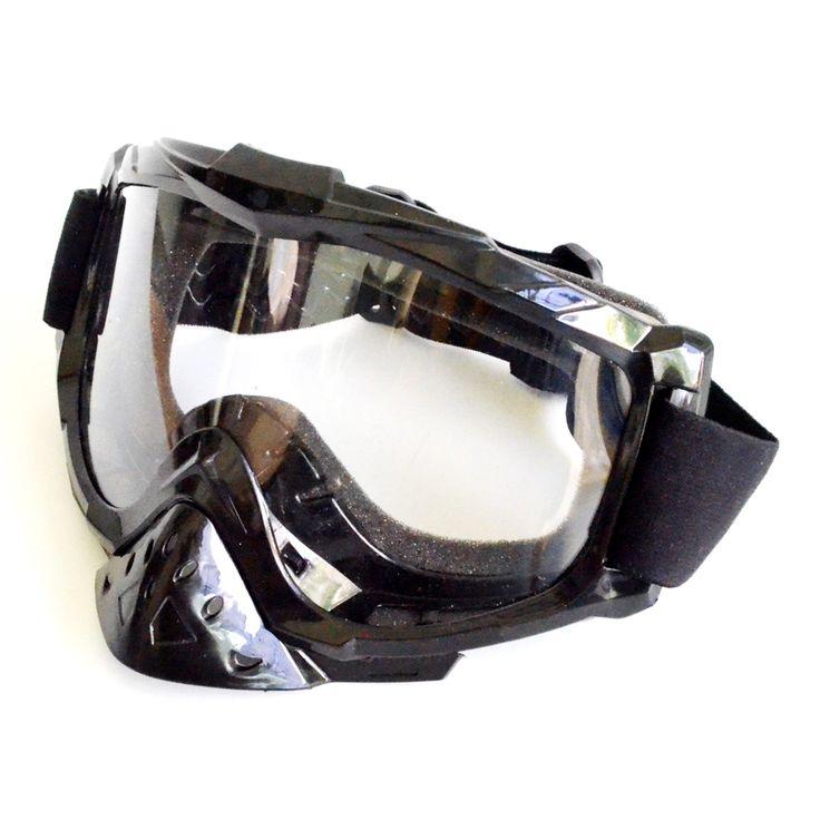 RajaMotor Kaca Mata Gogle MX New Clear- Hitam  Kaca mata Goggle ini dengan warna kaca clear dengan list hitam.   Kacamata MX untuk melindungi mata dari debu dan angin saat berkendara, cocok untuk olah raga motor cross atau bermotor sehari-hari.