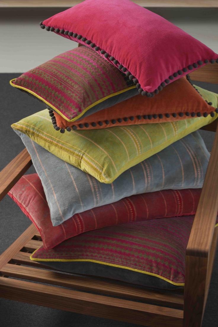 Gorgeous NEW velvet cushions for Linen & Moore W13