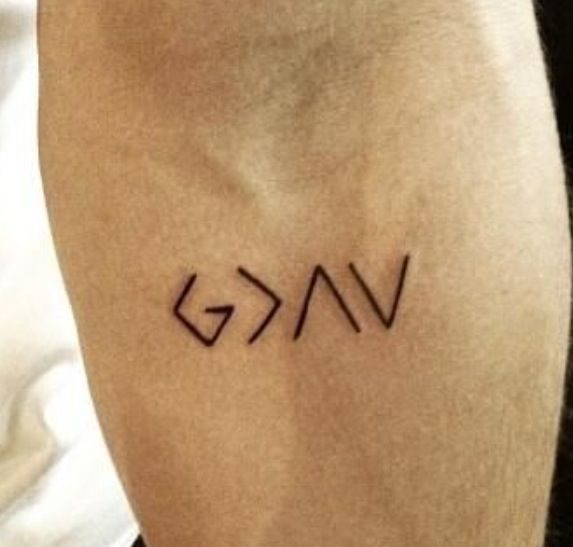 God is greater than the ups and downs tatoos for Nick jonas tattoo
