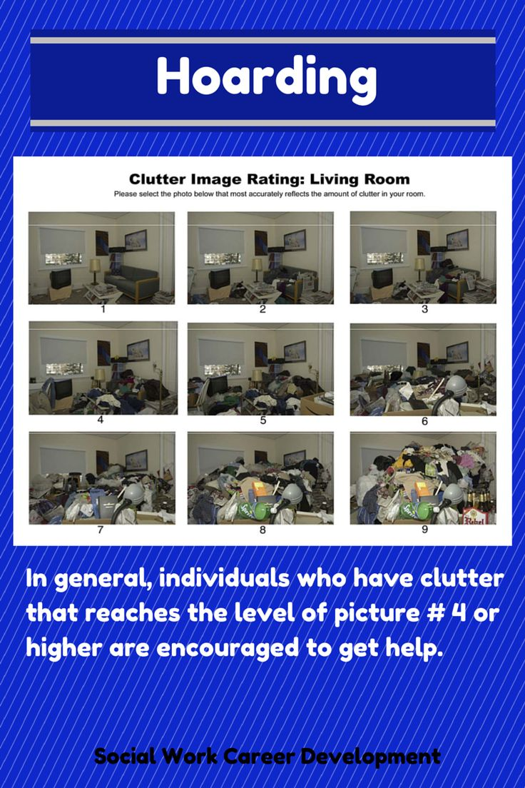 Hoarding: Causes, Hazards and Strategies by Social Work Career Development < How do you assess whether an individual has a hoarding problem? What questions can you ask to ascertain whether the person's clutter is a safety/health concern?... includes excellent webinar + presentation by UNC Chapel Hill School of Social Work #hoarding