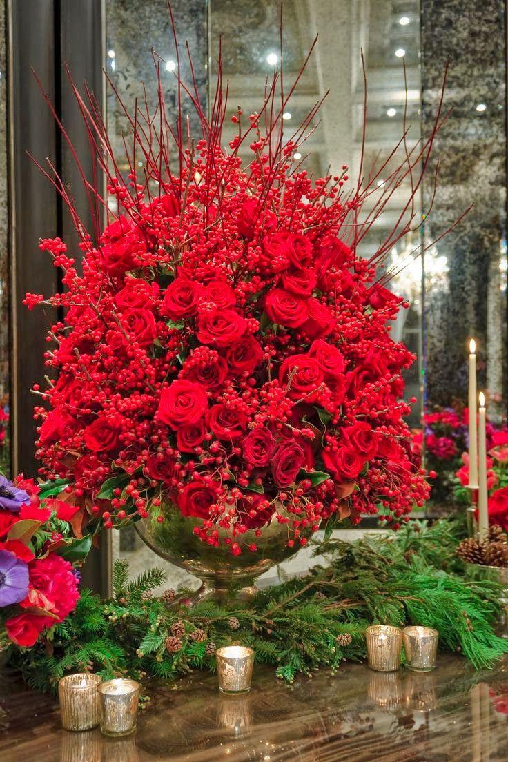 Red Roses And Berries...beautiful!