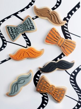 Icing koekjes snor en vlinderstrik
