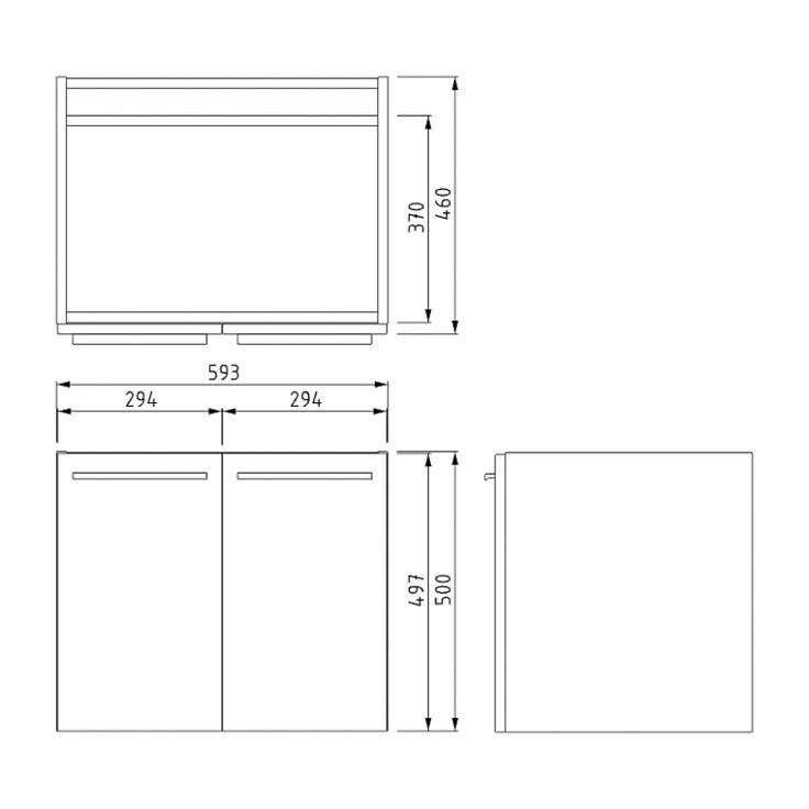 MOCOORI Box BMA005502 Hangend badkamermeubel