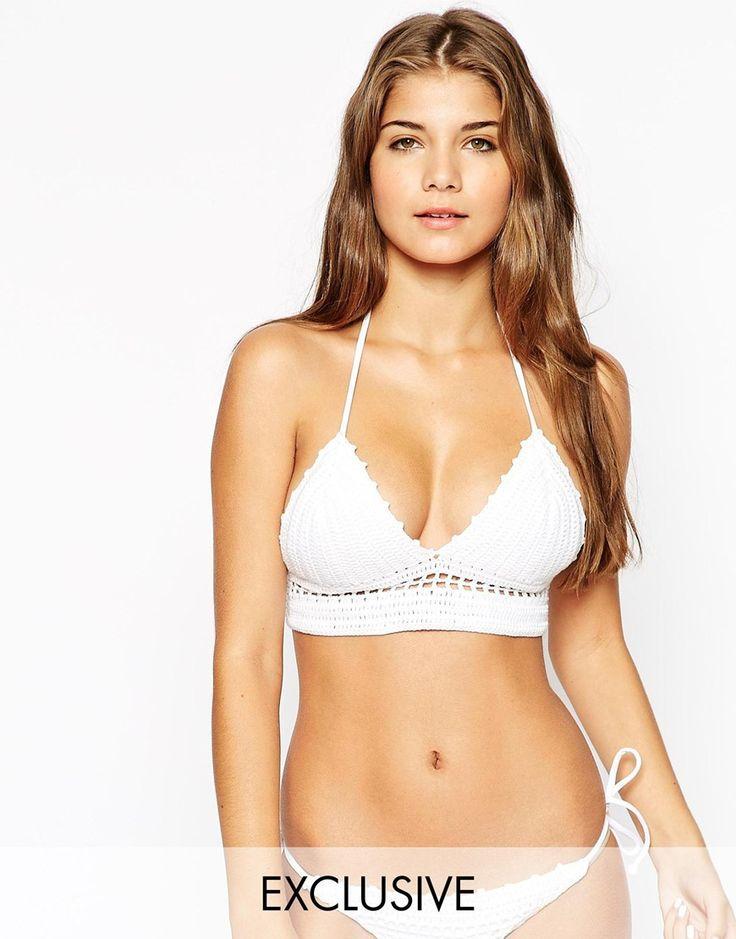 South Beach - Polly - Top de bikini long au crochet fait main