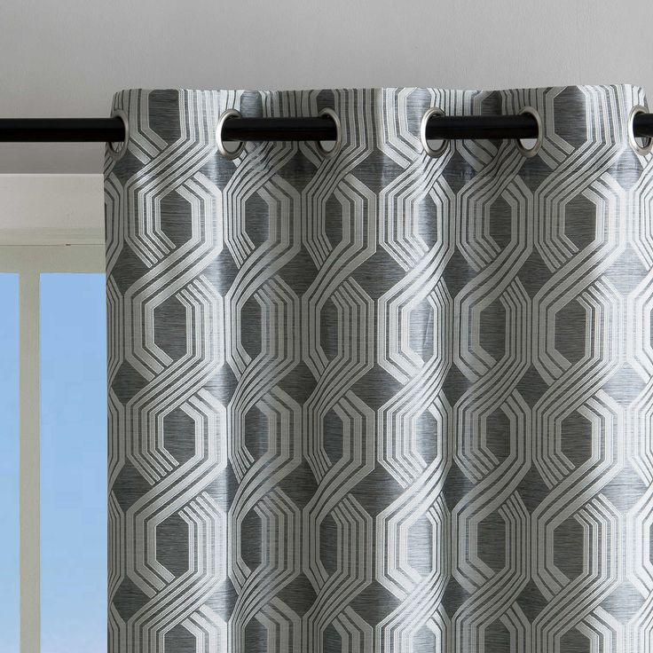 Elrene Home Fashions Renzo Geometric Ikat Blackout Grommet Top