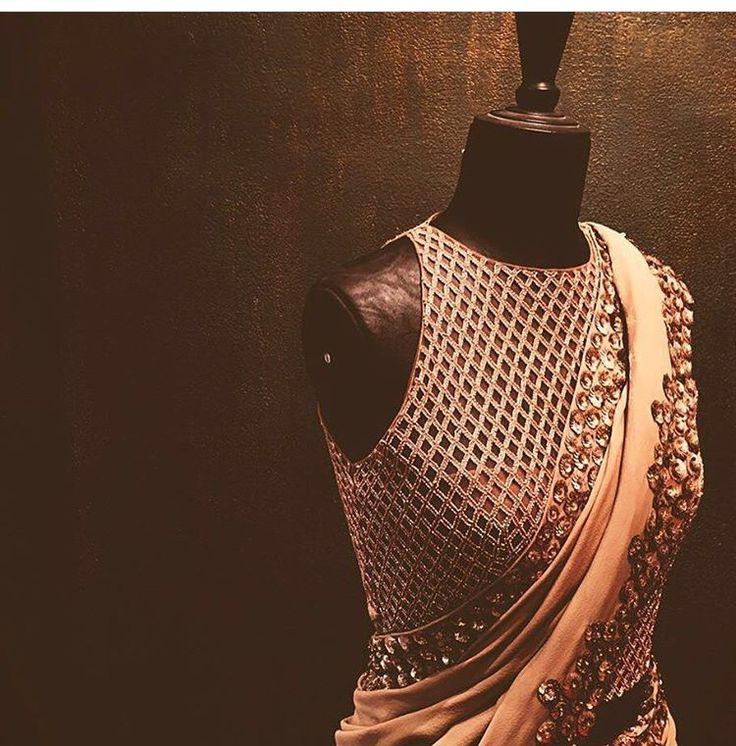 Manish Malhotra # hand crafted saree # blouse # cuts#