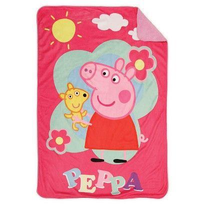 Peppa Pig Toddler Plush Blanket - Pink-Needs a bigger blanket for nap time at school