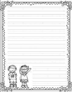 Fun For First: Writing Paper Freebie. Cute!