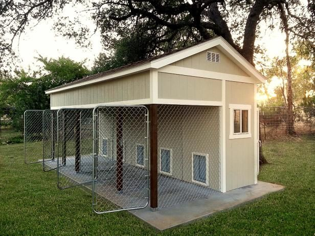 Believe it or not, some  garden sheds  and outbuildings are designed specifically for animals such as this dog kennel model.