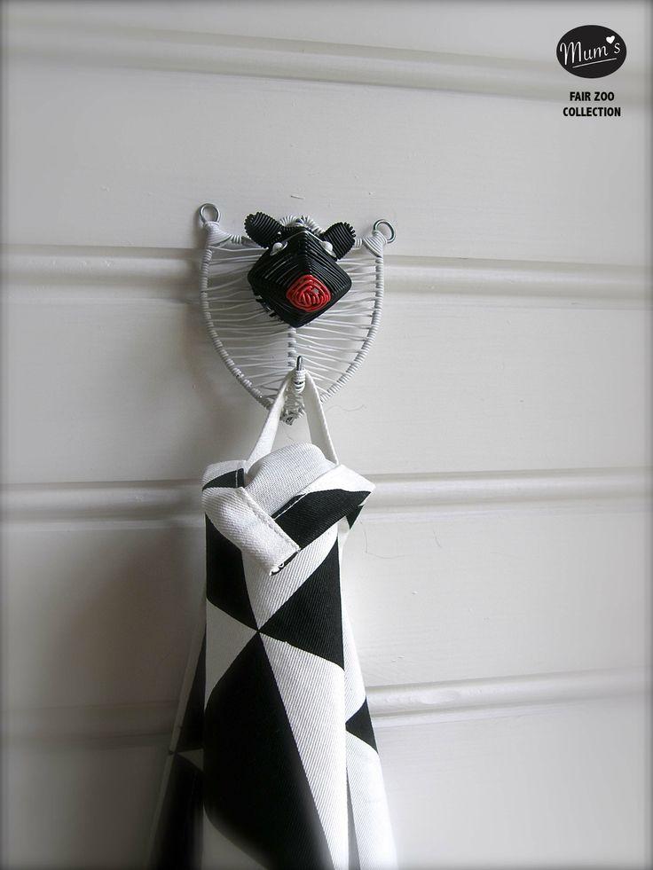 Scandinavian beauty: BEAR designed in Finland handmade fairly in Africa. http://mums.fi/products/mums-living/bear-wall-hook/