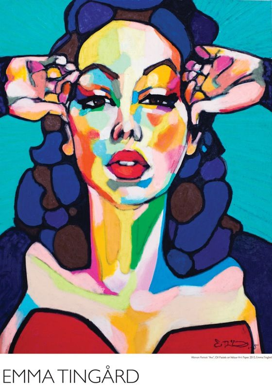 Woman Portrait Ava Gardner, by Swedish Artist Emma Tingård. Art, painting, portrait, art poster, art print