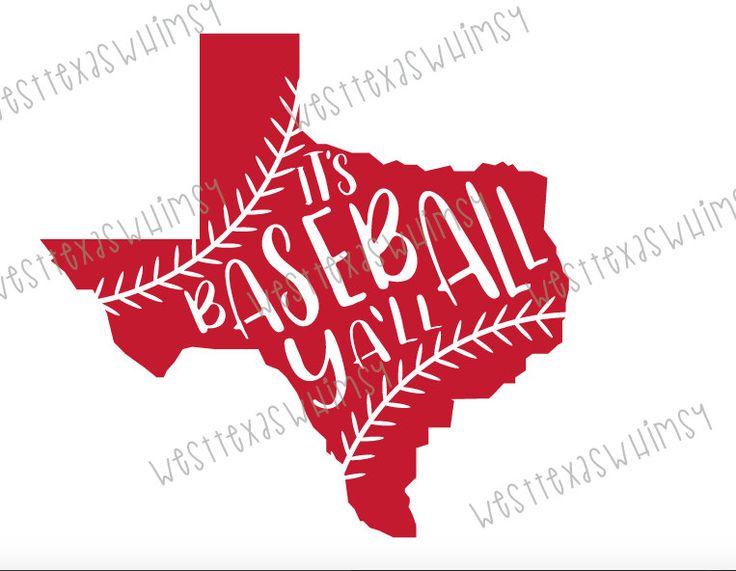 It's Baseball Ya'll SVG, baseball svg, baseball mom svg, texas svg, softball mom svg, softball svg, texas baseball svg, baseball season svg by WestTexasWhimsy on Etsy