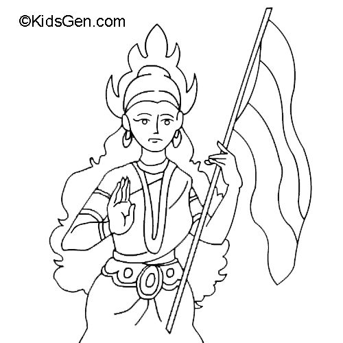 Coloring Pages For Independence Day In India