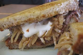 Stroganoff steak sandwich/ Dorothy Lane Market