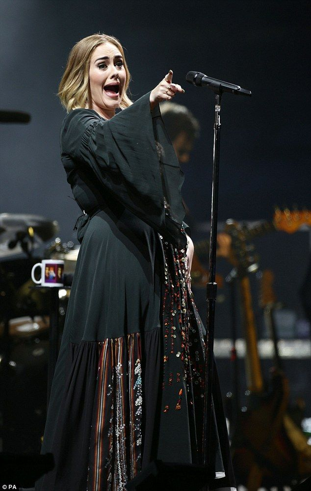 Rolling in the mud! Adele drew a crowd of thousands to Glastonbury's famous Pyramid Stage for her headline slot at the 2016 festival on Saturday night