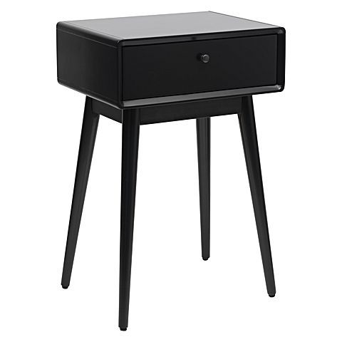 Sleep in style bedside the sleek and dark finish of the Lara Bedside Table, Black from Zanui.
