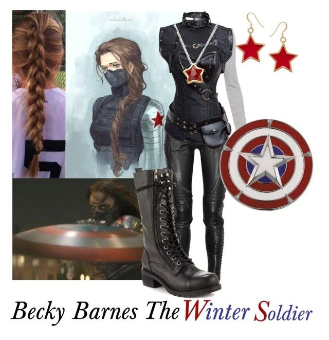 """Becky Barnes The Winter Soldier"" by smellypie ❤ liked on Polyvore featuring Preen, Retrò, Kenneth Jay Lane, Sebastian Professional, LYRALOVESTAR and Kelsi Dagger Brooklyn"