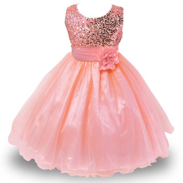 2-14yrs Meninas Natal Vestido Para O Verão Da Princesa Festa de Casamento vestido de lantejoulas Sem Mangas de Roupas de Ano Novo Para Meninas ( loja mon love)