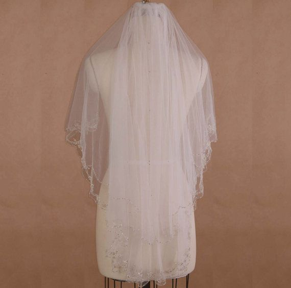 Veil, embriodery veil, comb veil, Tulle veil, big veil,Long veil, wedding accessories, bridal accessories, beading veil, Two layers veil