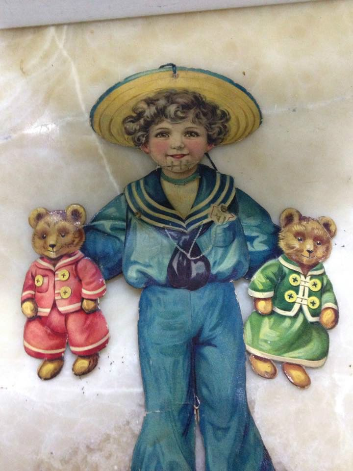 Vintage Antique Paper Doll Raphael Tuck Sons Jolly Jack Tedy Bear 1900'S | eBay