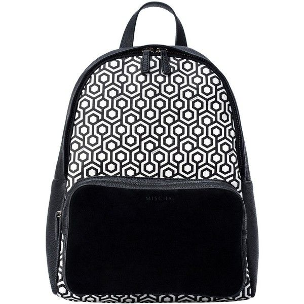 Backpack - classic black (1,060 PEN) ❤ liked on Polyvore featuring bags, backpacks, leather rucksack, leather laptop backpack, leather bags, zip backpack and genuine leather backpack