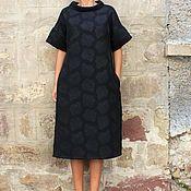 Одежда ручной работы. Ярмарка Мастеров - ручная работа Черное макси миди вечернее холтер платье. Handmade.