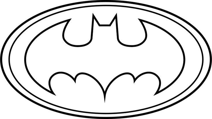 batman logo outline  batman coloring pages printable