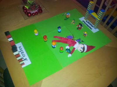 #ElfOnTheShelfIdeas #ElfieJasinski #KidsChristmasTradition #Creative #FootballRugby