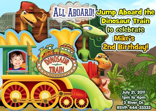 best 25+ dinosaur train party ideas on pinterest | dinosaur train, Birthday invitations