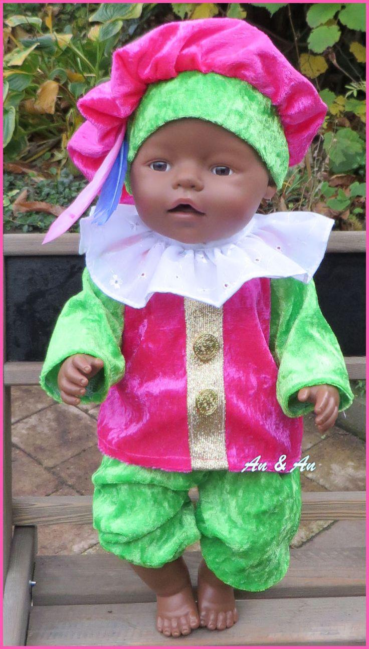 Zwarte Pietenpak voor babyborn