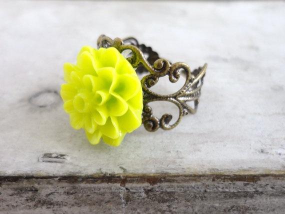 Neon Flower Ring